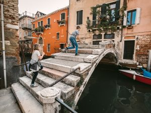 Children in Venice on vacation