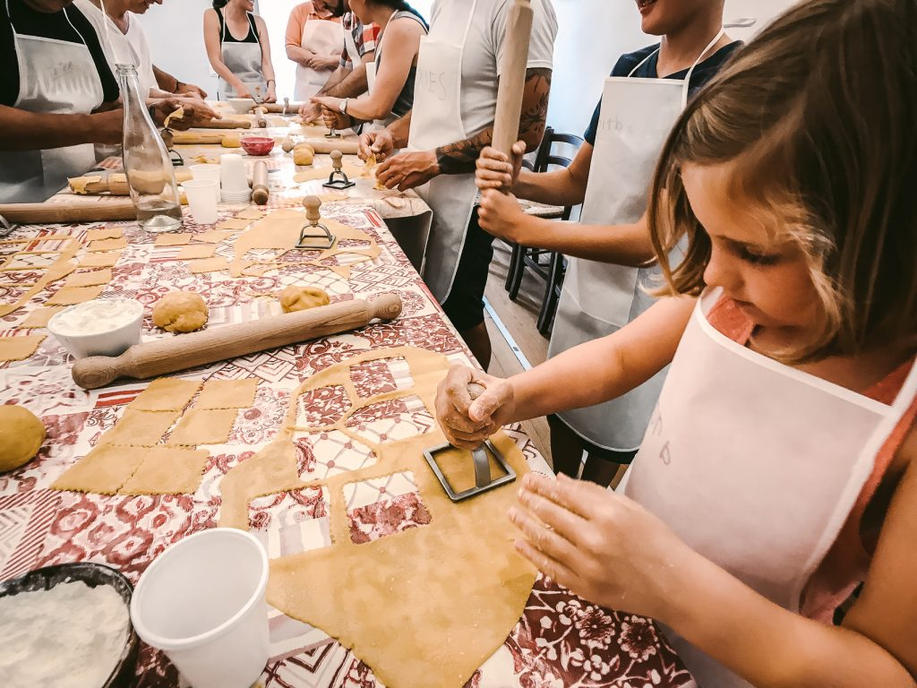Pasta Making Class in Florence Italy with Kids