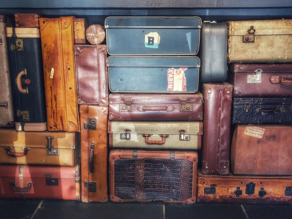 Suitcases travel