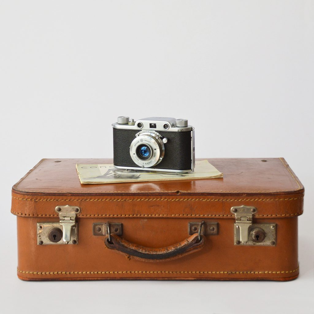 Suitcase camera travel