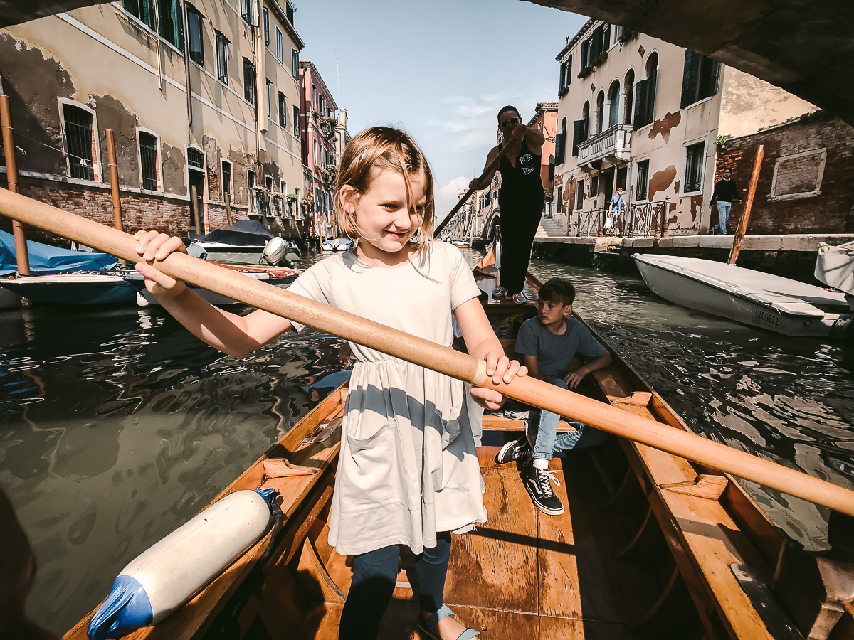 skip the gondola kids rowing lesson